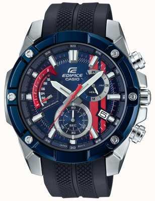 Casio Edifice toro rosso rubberen band blauwe wijzerplaat EFR-559TRP-2AER
