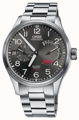 Oris Grote kroonprothese kaliber 111 roestvrijstalen armband 01 111 7711 4163-SET 8 22 19