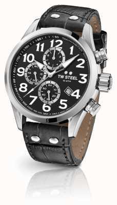 TW Steel Volante 48mm chronograaf zwarte leren riem VS54