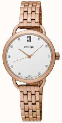 Seiko Reclaim rose gouden armband voor dames SUR698P1