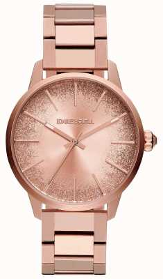 Diesel Dames castilla rose goudkleurige armband met glitter wijzers DZ5567