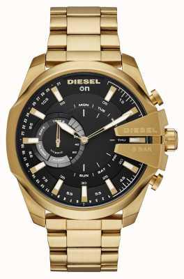 Diesel Mens megachief hybride smartwatch goudkleurige armband DZT1013