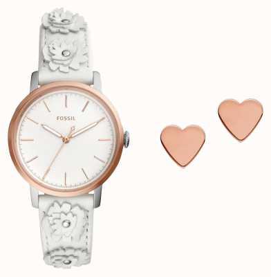 Fossil Womens neely horloge en oorknopjes set ES4383SET