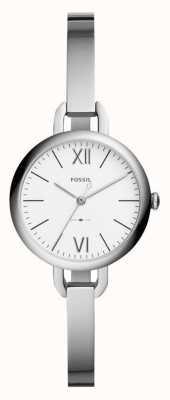 Fossil Womens annette silver tone bangle horloge ES4390