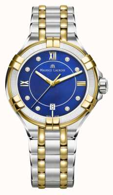 Maurice Lacroix Womens aikon 35mm two tone stainless steel electric bluedial AI1006-PVY13-470-1