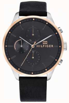 Tommy Hilfiger Leren armband voor heren met chronograaf 1791488