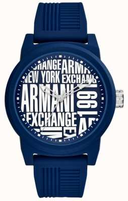 Armani Exchange Heren atlc siliconen band AX1444