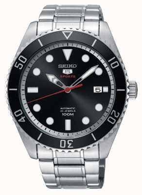 Seiko 5 neo sport automatische datumweergave zwarte dial datumweergave SRPB91K1