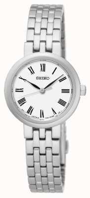 Seiko Witte wijzerplaat Romeinse cijfers roestvrijstalen armband SRZ461P1