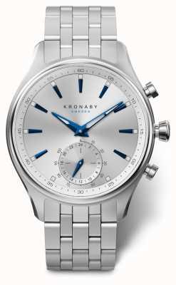 Kronaby 41 mm sekel zilveren wijzerplaat roestvrij stalen armband a1000-3121 S3121/1