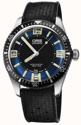 Oris Divers vijfenzestig automatische rubberen band blauwe wijzerplaat 01 733 7707 4035-07 4 20 18