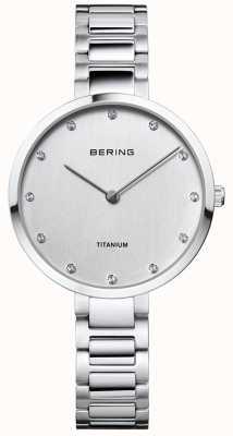 Bering Kristallen set titanium kast en armband 11334-770