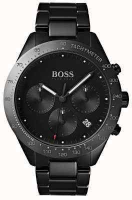 Boss Heren talent zwarte wijzerplaat datumweergave zwarte ip vergulde armband 1513581