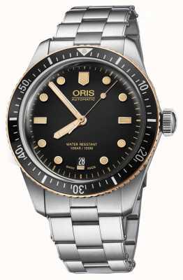 Oris Divers vijfenzestig roestvrij stalen armbandhorloge 01 733 7707 4354-07 8 20 18