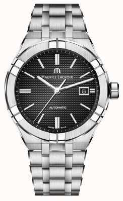 Maurice Lacroix Aikon automatisch roestvrij stalen horloge met zwarte wijzerplaat AI6008-SS002-330-1