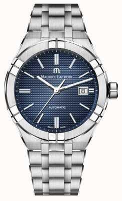 Maurice Lacroix Aikon automatisch 42mm roestvrijstalen horloge met blauwe wijzerplaat AI6008-SS002-430-1