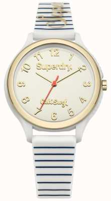 Superdry Sapporo surf witte siliconen band SYL153WG