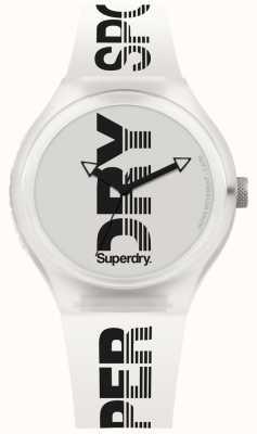 Superdry Urban xl sport witte siliconen riem SYG189W