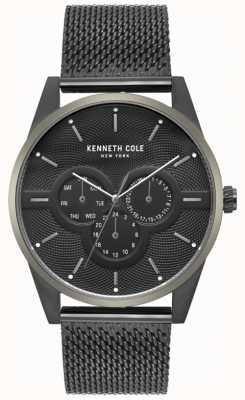 Kenneth Cole Mens multi dial zwart mesh armband horloge KC15205005
