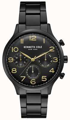 Kenneth Cole Zwart pvd chronograafhorloge voor heren KC15185001