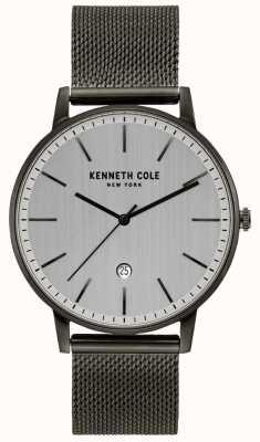 Kenneth Cole Klassiek gunmetal roestvrij stalen meshhorloge KC50009003