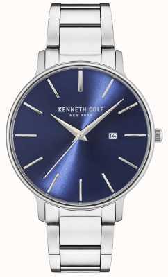 Kenneth Cole Roestvrij stalen blauwe wijzerplaathorloge KC15059003