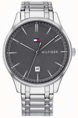 Tommy Hilfiger Heren damon grijs wijzerplaat roestvrij stalen horloge 1791490