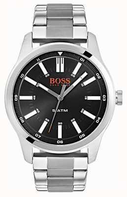 Hugo Boss Orange Heren dublin black dial roestvrij stalen armband horloge 1550069