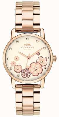 Coach Dames grand rose vergulde horloge 14503057