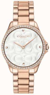 Coach Dames moderne sport horloge rose goud verguld 14503072