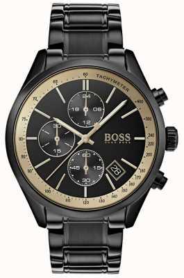 Hugo Boss Grand Prix zwart iP / goudaccent horloge voor heren 1513578