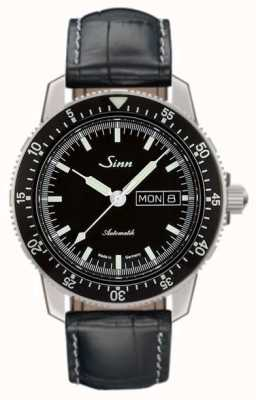 Sinn 104 st sa i classic pilot horlogeband met alligator reliëf 104.010 EMBOSSED LEATHER
