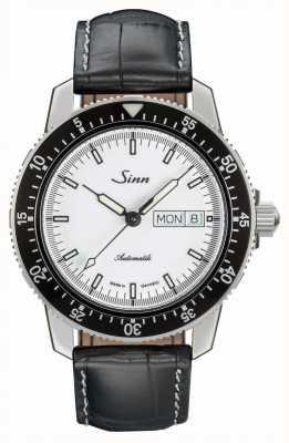 Sinn 104 st sa iw classic pilot horloge alligator reliëf leer 104.012-BL44201851001225401A