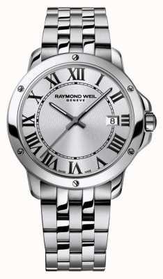 Raymond Weil Heren tango roestvrij stalen armband zilveren wijzerplaat 5591-ST-00659