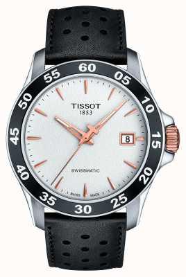 Tissot Heren v8 swissmatic t-sport zwart lederen band T1064072603100