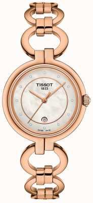 Tissot Flamingo rosé goud dames pvd verguld T0942103311601