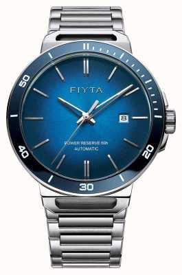 FIYTA Solo automatische roestvrij staal blauwe wijzerplaat saffier GA852001.WLW