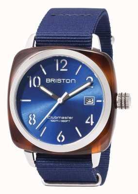 Briston Clubmaster sport pictogrammen blauwe riem 17142.SA.TS.9.NNB