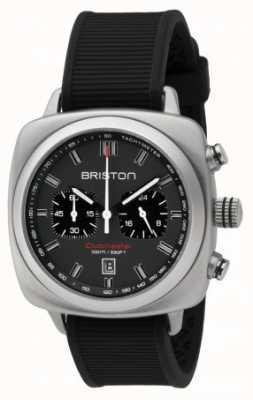 Briston Clubmaster sport zwart rubber grijs matte wijzerplaat 16142.S.SP.17.RB