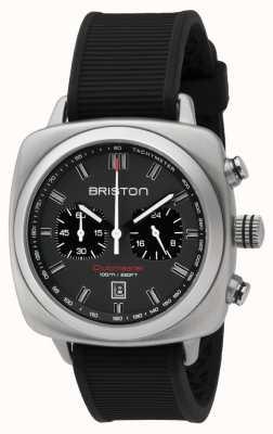 Briston Clubmaster sport zwarte rubberen grijze matte wijzerplaat 16142.S.SP.17.RB