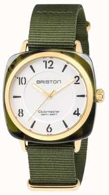 Briston Clubmaster chic groene riem witte wijzerplaat 18536.PYA.TG.2.NGA