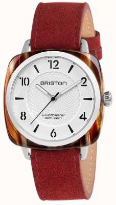 Briston Clubmaster chic blauwe band witte wijzerplaat 18536.SA.BE.2G.LNR