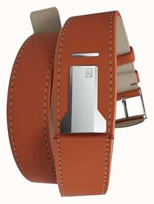 Klokers Klink 02 oranje dubbele riem slechts 22 mm breed 380 mm KLINK-02-380C8