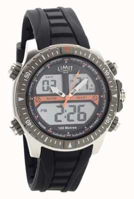 Limit Zwart digitaal rubberen bandje / analoog horloge 5694.71