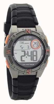 Limit Zwart digitaal rubberen bandje / analoog horloge 5695.71