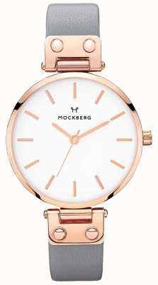 Mockberg Womens alicia donkergrijs lederen horloge MO118