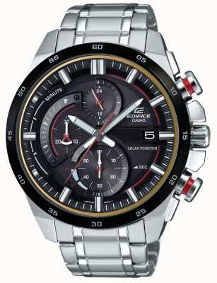 Casio Mens gebouw 3D chronograaf horloge op zonne-energie EQS-600DB-1A4UEF