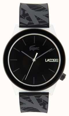 Lacoste Unisex-beweging horloge zwart en grijs rubberen band 2010937
