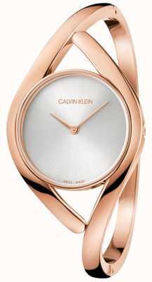 Calvin Klein Damesfeest roségouden roestvrijstalen horloge K8U2M616