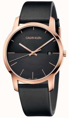 Calvin Klein Heren stads rosé lederen horloge K2G2G6CZ